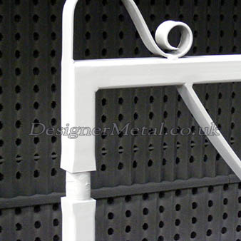 Metal estate fencing gate made for automation.