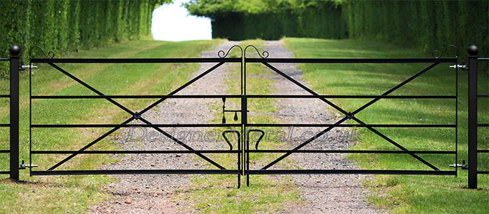 4m double opening metal gate