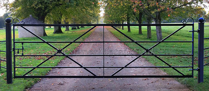 12 foot Victorian reproduction metal gates