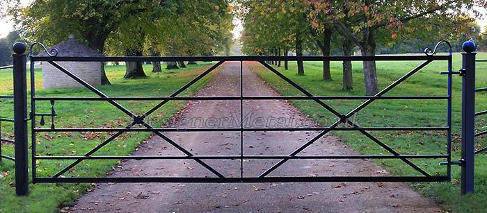12 foot Victorian reproduction metal gates