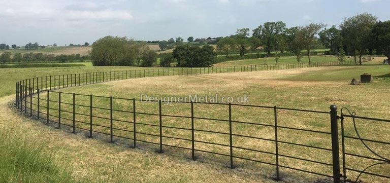 Estate fencing installation in an english country park.