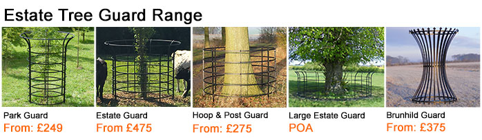 Buy estate tree guards for larger trees and heavy livestock environments.