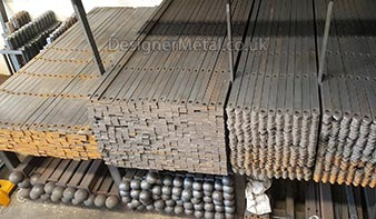We keep huge stocks of loose supply only metal fencing