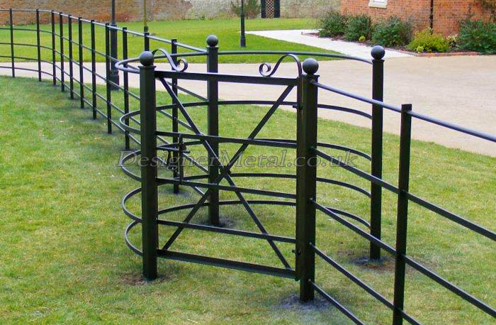 Kissing Gate, cross braced for estate fencing access.