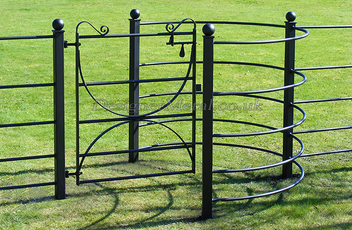 Kissing Gate, hoop braced for Estate Fencing for letting only Pedestrians through the fence line