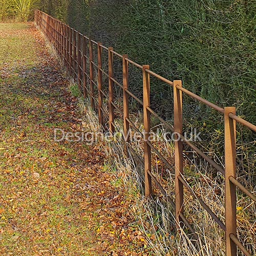 Metal fencing left unpainted is still structurally perfect, many years after installation.