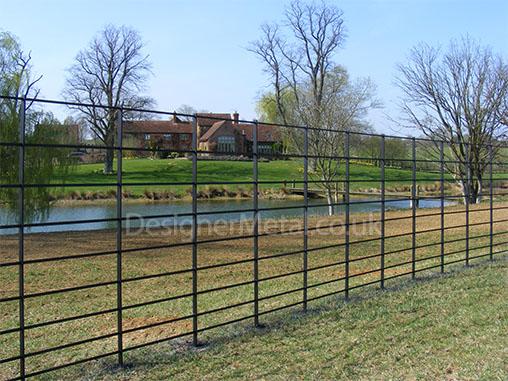 Deer fencing installation.