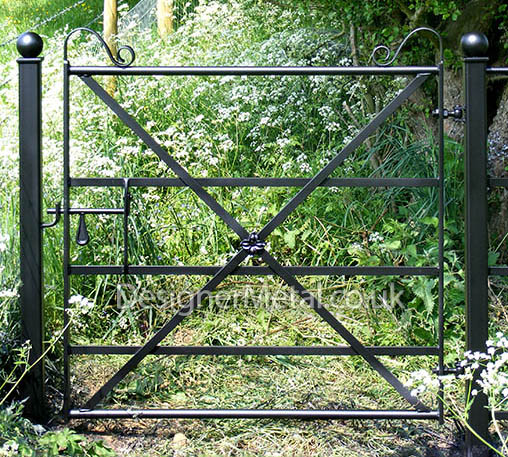 Victorian reproduction pedestrian gate with a 1.2 metre wide opening