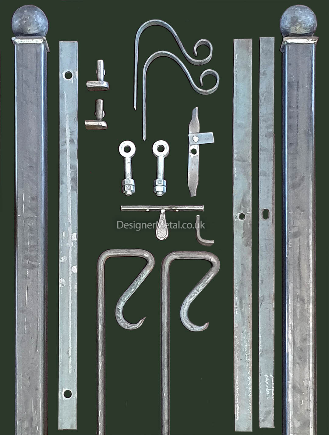 Gate kit components