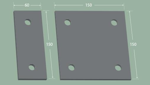 Wall base plates