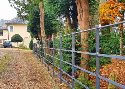 Estate fencing newly installed