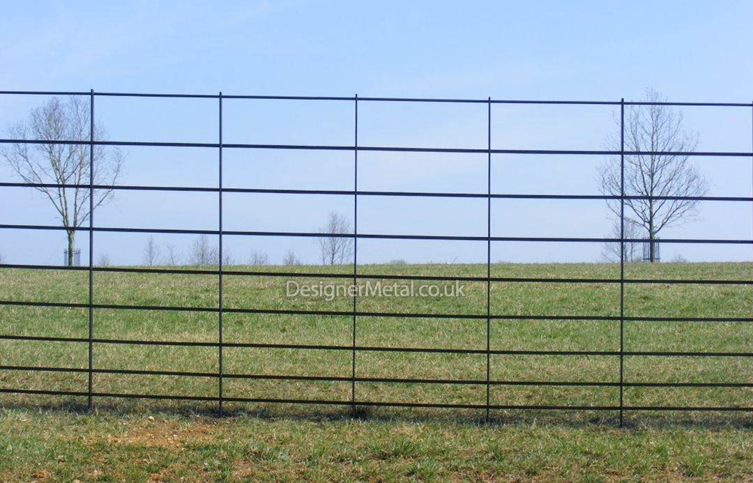 Deer fencing facing view