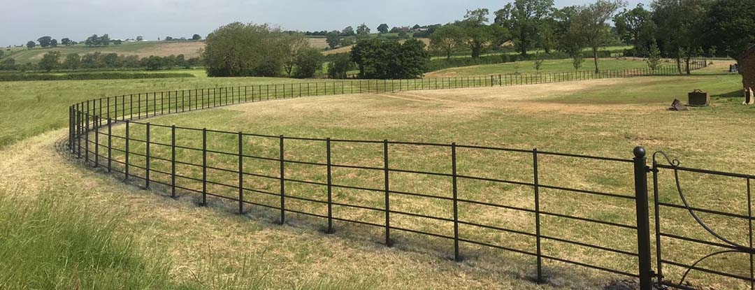 The many advantages of estate fencing are demonstrated here.