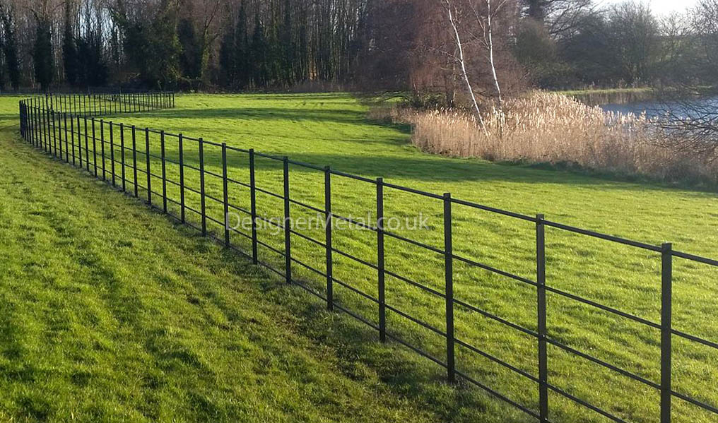 Style 2A estate fencing featuring all round rail.