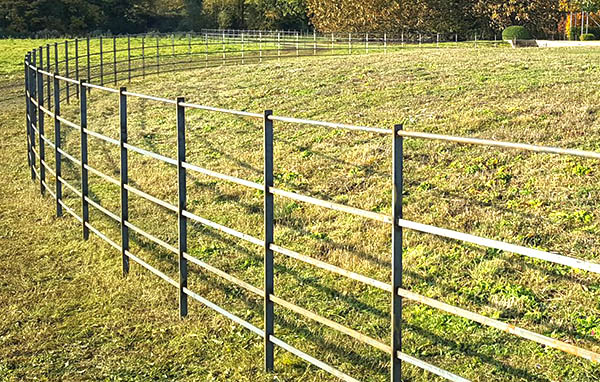 Our five rail, continuous welded, estate fencing system