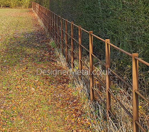 Rust finish fencing 2
