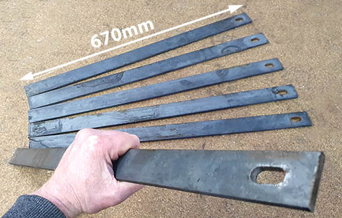Ground stakes for tree guards.